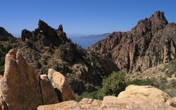 Corsica. Rocky inlet from piana in corsica island Stock Images