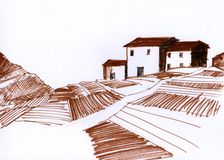 Corsica sketch Stock Images