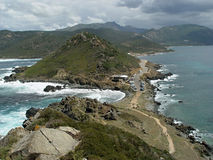 North Cape in Corsica Island,  Mediterranean Sea Royalty Free Stock Photos