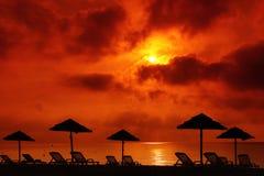 Corsica beach. Sunset on  beach from corsica island Stock Photo