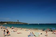 Corsica beach. Pinarello a corsica beach in Mediterranean sea Stock Photos