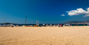 Corsica beach. Blue sky above Corsica beach Royalty Free Stock Images