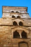 Corsica, Bonifacio, skyline, citadel, old town, church, architecture, skyline, Saint Mary Major. Corsica, 05/09/2017: the bell tower of the Basilica of Saint Royalty Free Stock Photos
