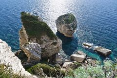 Corsica cliffs, France Stock Images