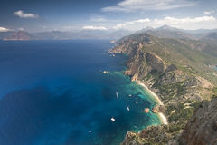 Corsica coast. Great panoramic view of see coast of corsica Royalty Free Stock Image