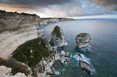 Corsica coastline. Rocky coastline in Corsica - France Royalty Free Stock Photos