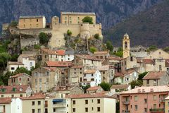Corsica Corte village Stock Photo