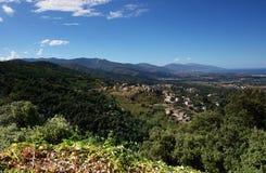Corsica  costa serena. Casinca village in costa serena coast  corsica Royalty Free Stock Photos
