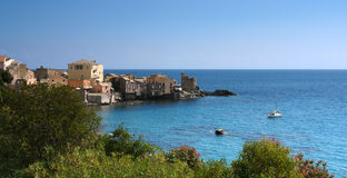 Corsica erbalunga village Royalty Free Stock Images