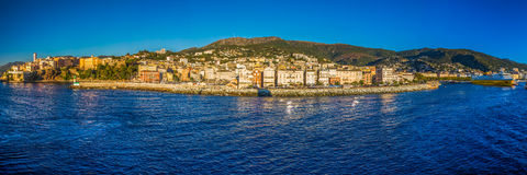 Corsica Ferry terminal in the harbour of Bastia Royalty Free Stock Image