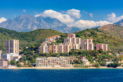 Corsica, France Coast. Al resorts on the Mediterranean Royalty Free Stock Images