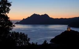 corsica france golf porto Royaltyfri Foto