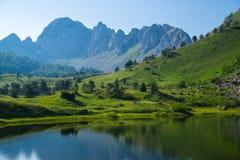 corsica góry creno de France lac jeziorne halne góry fotografia stock