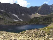 corsica góry creno de France lac jeziorne halne góry duże krajobrazowe halne góry Fotografia Royalty Free