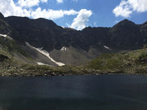 corsica góry creno de France lac jeziorne halne góry duże krajobrazowe halne góry Zdjęcia Stock
