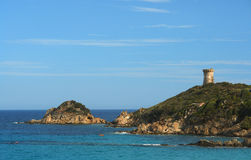 Corsica genoese tower Royalty Free Stock Photo