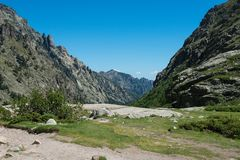 Corsica hiking trail Royalty Free Stock Photos