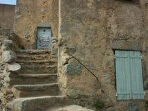 corsica hus Arkivfoto