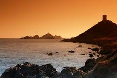 Corsica island ajaccio bay Stock Photo