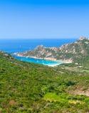 Corsica island, bright vertical coastal landscape Stock Photo