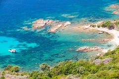 Corsica island, Cupabia gulf. Coastal landscape Stock Photos