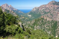 Corsica island landscape Royalty Free Stock Photos