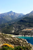 Corsica Landscape of a beach royalty free stock photo