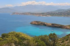Corsica Landscape - La Levellata Royalty Free Stock Photos