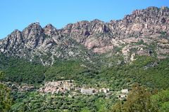 Corsica mountain Stock Images