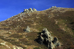 Corsica mountains, GR20 trail Royalty Free Stock Image