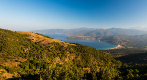 Corsica national nature park Scandola. Sea, mountains stock photos