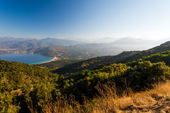 Corsica national nature park Scandola. Sea, mountains royalty free stock images