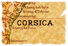 Corsica old map Stock Photography
