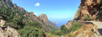 Corsica panoramic view Royalty Free Stock Photography