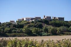 Corsica, Południowy Corsica, wieś, umieszczał, cytadela, Francja, Europa, lato, podróż Obraz Stock