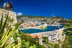 Corsica prom w starym centrum miasta Ładny, Francuski Riviera, Francja zdjęcie royalty free