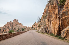 Corsica road Royalty Free Stock Images