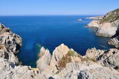 Corsica rock coast Royalty Free Stock Photos