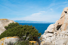 Corsica from Sardinia Stock Images