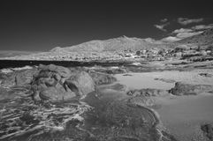 Corsica Sea viewed in Infrared, France Royalty Free Stock Images