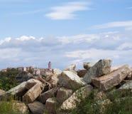 Bastia, skyline, Citadel, old town, Corsica, Corse, Cap Corse, Haute Corse, France, Europe, island, summer. Corsica, 03/09/2017: the skyline of the old citadel Stock Photos