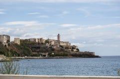 Bastia, skyline, Citadel, old town, Corsica, Corse, Cap Corse, Haute Corse, France, Europe, island, summer. Corsica, 03/09/2017: the skyline of the old citadel Royalty Free Stock Photo