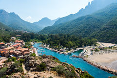 Corsica small bay, porto. Corsica small porto, bay, mountains royalty free stock photos