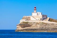 Corsica, Sud Madonetta latarnia morska zdjęcia royalty free