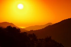 Corsica sunset Stock Photography