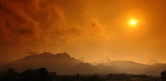 Corsica sunset Stock Image