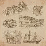 Corsica, Travel - Hand drawn vector pack Royalty Free Stock Images