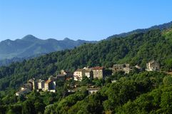Corsica village Stock Photos