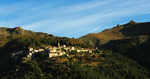 Corsica village Royalty Free Stock Photo
