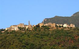 Corsica village in casinca Royalty Free Stock Photo